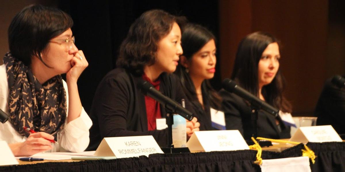 Karen Rommelfanger, Jinni Jeong, Caroline Montojo and Khara Ramos
